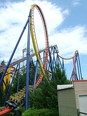 Mantis, Cedar Point, Sandusky, Ohio, USA.