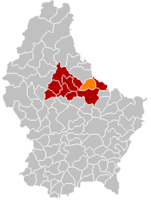 Bettendorf, Luxembourg - Image: Map Bettendorf