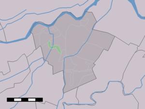 Broek, South Holland - Image: Map NL Zederik Broek