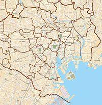 明治神宮の位置(東京都区部内)