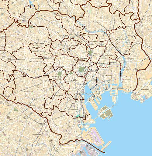 Map Tokyo special wards