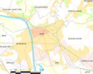 阿让市镇地图