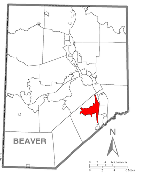 Map of Aliquippa, Beaver County, Pennsylvania Highlighted.png