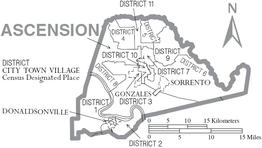 Overzichtskaart van Ascension Parish