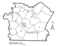 Map of Fayette County, Pennsylvania No Text.png