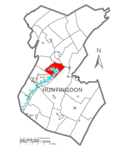 Map of Huntingdon County, Pennsylvania Highlighting Juniata Township.PNG