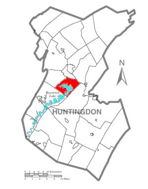 Juniata Township, Huntingdon County, Pennsylvania - Image: Map of Huntingdon County, Pennsylvania Highlighting Juniata Township