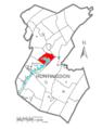 Map of Huntingdon County, Pennsylvania Highlighting Juniata Township.PNG