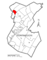 Map of Huntingdon County, Pennsylvania Highlighting Spruce Creek Township.PNG