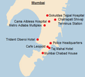 Map of Mumbai attacks.png