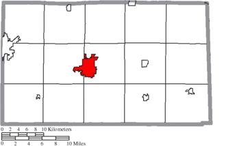 Tiffin, Ohio - Image: Map of Seneca County Ohio Highlighting Tiffin City