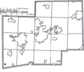 Map of Stark County Ohio Highlighting Wilmot Village.png