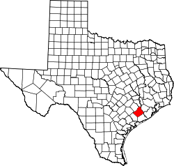 Map of Texas highlighting Wharton County.svg