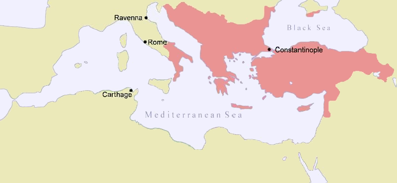 Map of the Byzantine Empire, 1025 AD