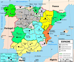 translation of spanish map in french language