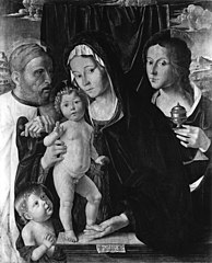 The Holy Family with St John the Baptist and St Mary Magdalen
