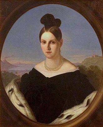 Giuseppe Bezzuoli - Image: Maria Antonia of the Two Sicilies by Bezzuoli 1847