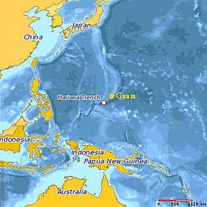 Location of the Mariana Trench