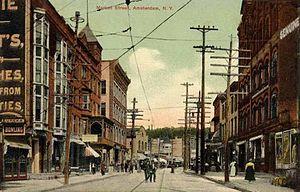 Amsterdam (city), New York - Market Street in 1909