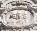 Marquês de Pombal (pormenor - Eugénio dos Santos, D. Luís da Cunha, Manuel da Maia).png