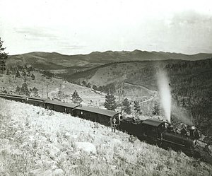 Marshall Pass - Image: Marshall Pass, D&RG train, c.1890