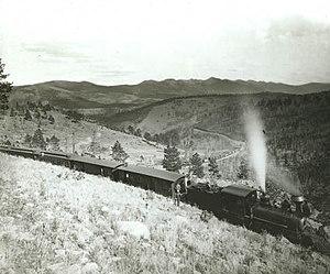 Marshall Pass - Image: Marshall Pass, D&RG train, c.1890