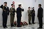 Marszałek Sejmu Marek Kuchciński składa wieniec pod tablicą Prezydenta RP Lecha Kaczyńskiego.jpg