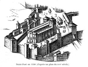Justus of Lyon - Image: Martin Histoire des églises et chapelles de Lyon, 1908, tome I 0205