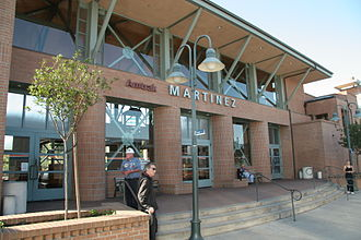 Martinez station - Martinez station building in 2007