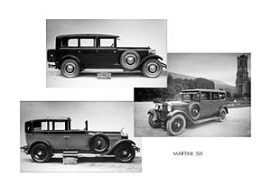 Martini (automobile company) - Martini-Six variants.
