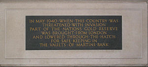 Martins Bank - Image: Martins bank plaque Liverpool