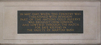 Martins Bank - Image: Martins bank plaque Liverpool