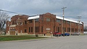 Glenn M. Curtis - Martinsville's high school basketball gymnasium