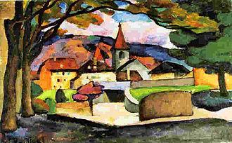 Ilya Mashkov - Image: Mashkov, Landscape with a Town