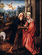 Master of the Adoration of Machico - Meeting at the Golden Gate