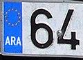 Matrícula automovilística España 2000 Aragón.jpg
