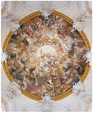 Matthäus Günther - Dome fresco in the Benedictine Abbey Church of St. Marinus and St. Anianus in Rott am Inn