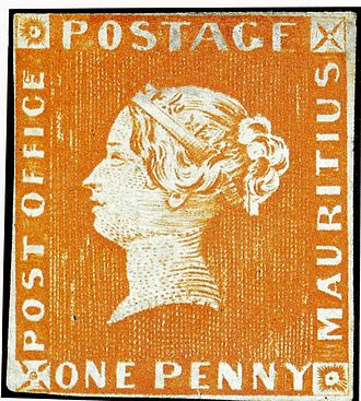 """Mauritius """"Post Office"""" stamps - Image: Mauritius stamp"""