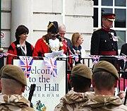 Mayor of Rotherham, Cllr Shaukat Ali & Col Simon Newton (RLH-800x600)