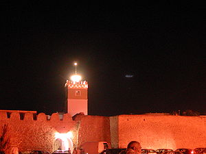 Medina of Hammamet, Tunisia (night).jpg