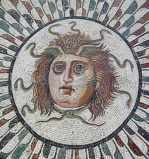 Sousse - A mosaic depicting Medusa in the Museum of Sousse.