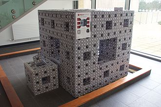Menger sponge - One of the MegaMengers, at the University of Bath