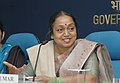 Meira Kumar addressing a press conference on National Awards instituted to recognize the outstanding fieldwork done by the NGOs and Human Right Activists in eradicating untouchability and combating offences of atrocities.jpg