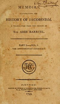 Memoirs Illustrating the History of Jacobinism cover