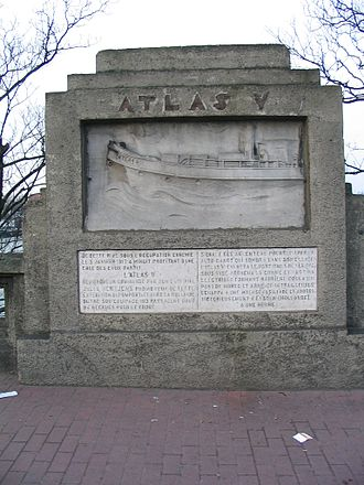 Atlas V (tugboat) - Plaque on the Pont Atlas, Liège