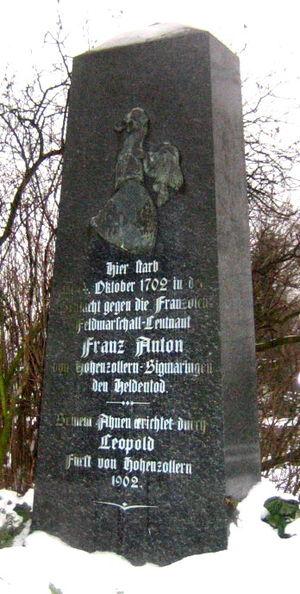 Franz Anton, Count of Hohenzollern-Haigerloch - Image: Memorial Franz Anton von Hohenzollern