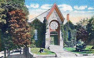 Memorial Hall (Oakland, Maine) - c. 1920 postcard view
