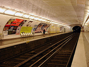 Bolivar (Paris Métro) - Image: Metro de Paris Ligne 7bis Bolivar 01