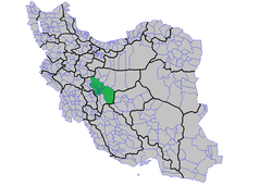 Map of counties that Isfahan Metropolis overlaps on