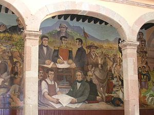 Zitácuaro - Mural inside the Palacio municipal (City Hall)